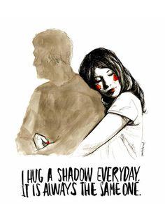 Lámina Paula Bonet - Hug shadow
