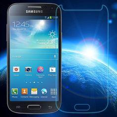 0.3mm En Verre Trempé pour Samsung Galaxy S4 Mini i9192 i9195 9 H Dur 2.5D Arc Bord Rond Frontière Avant Protecteur D'écran