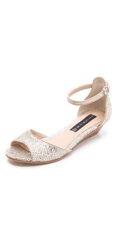 where where these when I was looking for my wedding shoes!? Cute and low. Wedge perfect for outdoor.