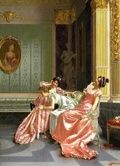 """The Recital"" (detail) by Vittorio Reggianini (1858-1938)."