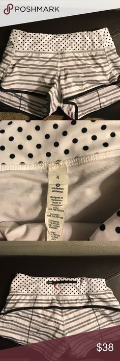 """Lululemon speed shorts 4-way stretch! Size 4, great condition, take really good care of all my Lulus (wash on gentle, hang to dry). 2.5"""" inseam. lululemon athletica Shorts"""