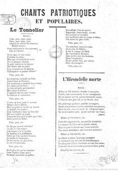 Chants patriotiques et populaires. Le Tonnelier. L'Hirondelle morte... | Gallica