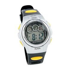 Mens Black  Yellow Digital Sport Watch Date Light Stopwatch Waterproof to 30M ** For more information, visit image link.Note:It is affiliate link to Amazon.