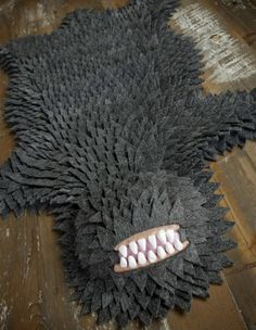 Monster Skin Rug -- For your kid's room. Awesome parents don't just kill the monster -- they make a rug out of them! Art Textile, Cool Pins, Hallows Eve, Halloween Decorations, Kids Room, Boy Room, Nerd, Geek Stuff, Diy Crafts