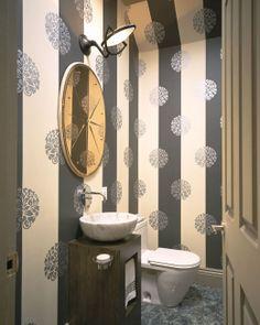 Baños empapelados [] Wallpapered bathrooms