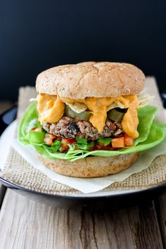The ultimate junk food gone healthy, the nacho burger. Veggies, protein and incredible flavor all in one easy meal!
