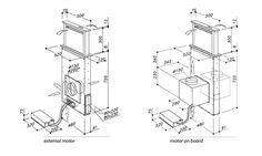 Kóty výsuvné digestoře z pracovní desky SIRIUS SDD3 TC DOMINO (určena mezi dvě desky)