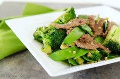 Quick Beef Stir Fry with Broccoli and Snow Peas