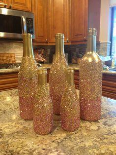Glittered bottles