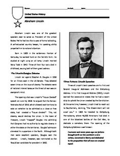 Printables Gettysburg Address Worksheet civil war gettysburg address in 4 minutes video worksheet this short biography on abraham lincoln focuses his debates with stephen a douglas first and second inaugural addresse