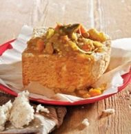 Spice up your meatless Monday with this Vegetable Curry Bunny Chow recipe