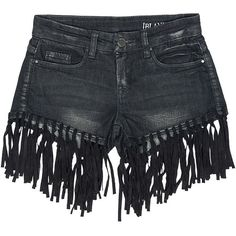 Sans Souci Blank nyc denim fringe shorts ($98) ❤ liked on Polyvore featuring shorts, bottoms, pants and shorts, grey, sans souci, zipper shorts, gray shorts, fringe shorts and boho shorts