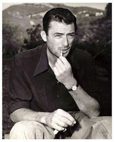 Gregory Peck. The handsomest man I've ever seen in real life. The movies didn't do him justice if you can believe it.