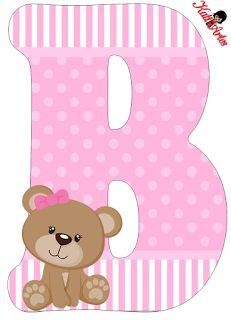 Uno Sfondo Di Baby Shower Per Ragazzo Scaricare . Alphabet Letter Templates, Alphabet And Numbers, Alphabet Letters, Letras Baby Shower, Moldes Para Baby Shower, Diy And Crafts, Paper Crafts, Baby Shawer, Bear Party
