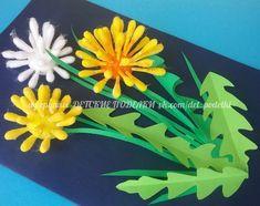 Spring flower art for kids bloemen Ideas Valentine Crafts For Kids, Spring Crafts For Kids, Mothers Day Crafts, Diy Crafts For Kids, Paper Flowers Diy, Flower Crafts, Flower Art, Diy Paper, Easter Art