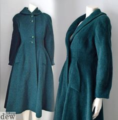Reserved  Do not purchase 1950's 1940's green coat by dewvintage