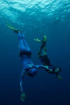 Karol Meyer - a mulher peixe. Octa recordista mundial de mergulho em apnéia