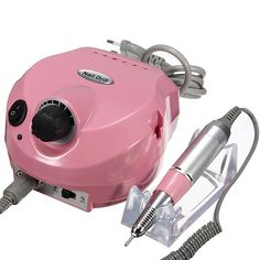 Pink Electric Nail File Drill Machine Set Manicure Pedicure Tool - US$58.98