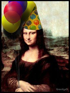 Mona Lisa Birthday  by Gravityx9