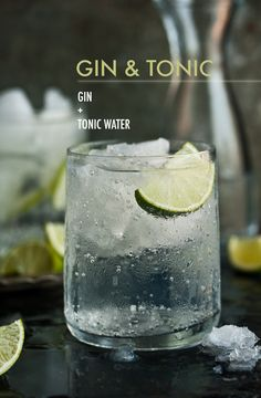 Top one or two shots gin with tonic water and garnish with a lime wedge. Duh