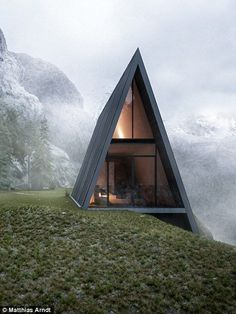 nice This triangular house with a glass balcony is nestled into a CLIFF by http://www.dana-home-decor.xyz/modern-home-design/this-triangular-house-with-a-glass-balcony-is-nestled-into-a-cliff/