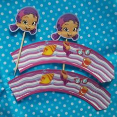 Wrappers y Toppers. Tema: Bubble Guppies.