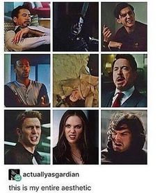 Which one do you guys think is the funniest? My vote top one of Bucky and bottom one of Wanda. Top one of Tony is me though tbh.