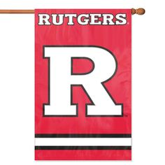 Rutgers Scarlet Knights NCAA Applique Banner Flag (44x28)