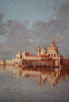 Venice, Cityscape oil Painting, Handmade art, One of a Kind,