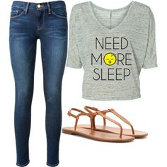 Untitled #14 by miniafrica on Polyvore featuring polyvore beauty Frame Denim Yves Saint Laurent