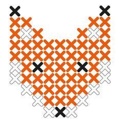 #FOX #CrossStitch Plak't sticker patroon Vosje | Lidewijs