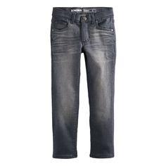 Boys 4-7x SONOMA Goods for Life™ Gray Skinny Jeans, Size: 6, Med Grey