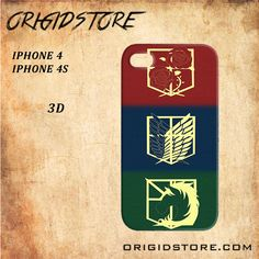 attack on titan logo For Iphone 4 Case - Gift Present Multiple Choice