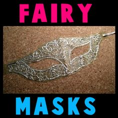 How to Make a Fairy Mask (this is a FANTASTIC mask!!!)  made from tule so it's light and comfortable to wear