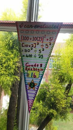 To date, I have made over 100 sets of math pennants for all levels of math. Some were made to hit certain standards, others were made to help celebrate holidays, and most were made after teachers specifically requested pennants to hit specific standards. Teaching 6th Grade, 7th Grade Math, Teaching Math, Teaching Ideas, Vocabulary Wall, Math Classroom Decorations, Math Bulletin Boards, Order Of Operations, Algebra 1