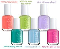 Essie Nail Polish Summer 2013 Collection #fabovewish
