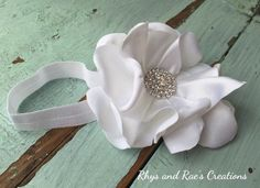 White Vintage Baby Hair Flower, Baby's Headband, Girls Headband, Shabby Chic, Vintage Style, Hair Clip, Women's Hairband, Newborn Headband by RhysandRaesCreations on Etsy https://www.etsy.com/listing/262360729/white-vintage-baby-hair-flower-babys