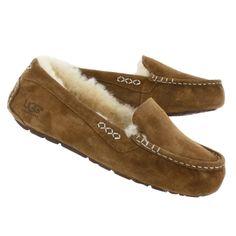 Women's ANSLEY chestnut sheepskin moccasins: got 'em & they're heavenly.