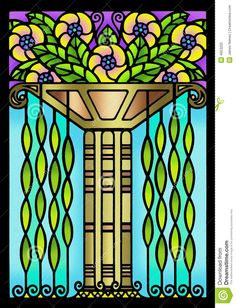 Vintage Art Deco Floral Design Royalty Free Stock Photo - Image ...
