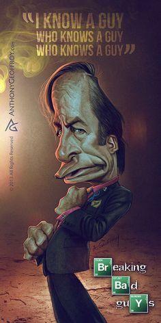 Découverte du travail du français Anthony Geoffroy avec ses superbes caricatures sur les personnages de la célèbre série Breaking Bad.