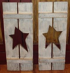 Cut out star shutters