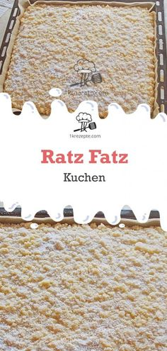 Ratz Fatz Kuchen very easy and super tasty Ingredients: For the dough: 200 g sugar 4 egg (s) 2 Cookies And Cream Frosting, Cinnamon Cream Cheese Frosting, Cake Mix Cookies, Cinnamon Cream Cheeses, Easy Smoothie Recipes, Snack Recipes, Simple Recipes, Torte Au Chocolat, Purple Drinks