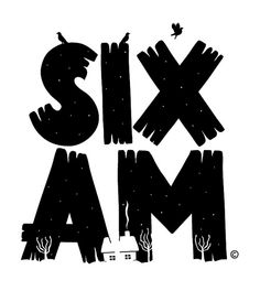 Six AM T-Shirt Design by lgnore, via Flickr