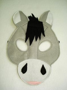 Children's DONKEY Farm Animal Felt Mask by magicalattic on Etsy, $12.50
