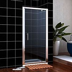Shop ELEGANT 800 x 800 mm Bifold Shower Enclosure Glass Shower Door Reversible Folding Cubicle Door + Side Panel. Screen Enclosures, Glass Shower Enclosures, Bathroom Shower Doors, Frameless Shower, Cubicle Door, Pivot Doors, Shower Cubicles, Big Bathrooms, Shower Screen
