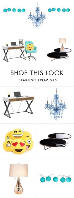 """""""Cute office / room"""" by ashling22 ❤ liked on Polyvore featuring interior, interiors, interior design, home, home decor, interior decorating, AF Lighting, Modloft, Kathy Ireland and Room Essentials"""