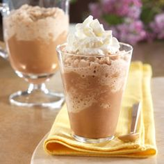 Icy Chai Mocha: Hot cocoa mix, flavored with instant espresso and the spices used in chai, blended with ice for a lower-calorie cold beverage