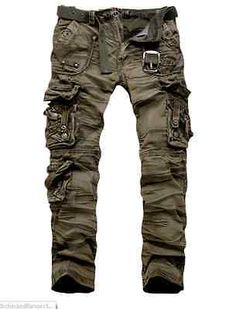 Men Clothing 2012 New Military Vintage Camo Style Multi pockets Cargo Pants in Clothing, Shoes & Accessories, Men's Clothing, Pants Camo Fashion, Mens Fashion, Camouflage Fashion, Military Camouflage, Fashion Hair, Military Fashion, Apocalyptic Fashion, Post Apocalyptic, Mode Outfits