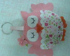 artesanato de pano com modelo de corujinha para lembrançinha de chá de bebê - Pesquisa Google