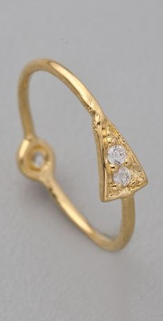 Jacquie  Aiche Pave Pyramid Double Bezel Ring, $110